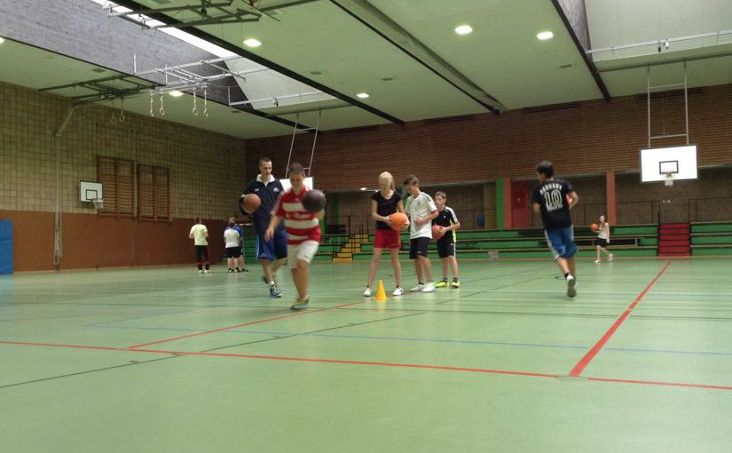Training mit Basketballprofis